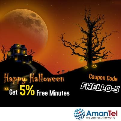 Over the Halloween Get 5% Free Minutes  Use the Halloween