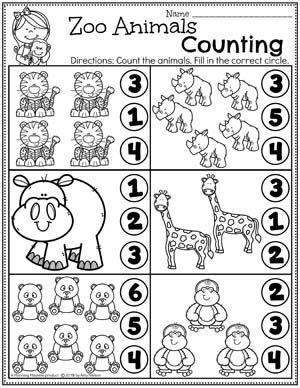 Preschool Zoo Theme Planning Playtime Preschool Math Worksheets Preschool Zoo Theme Math Activities Preschool