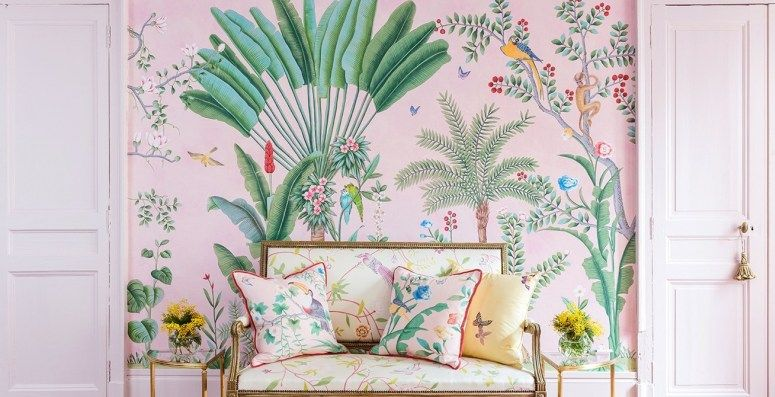 Chinoiserie Removable Wallpaper Chinoiserie Wallpaper Wallpaper Accent Wall Vinyl Wallpaper