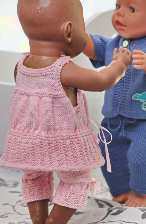 Baby Dolls Clothes Knitting Patterns | ААА-детям | Pinterest | Baby ...