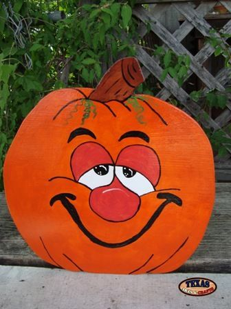 Funny Painted Faces On Pumpkins More