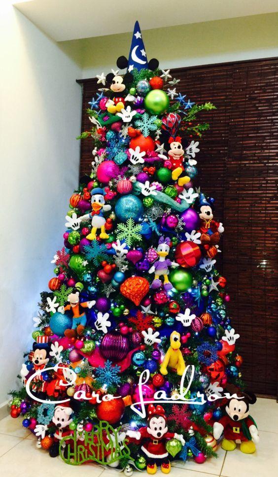 Arbol De Navidad Disney Con Casi Todos Los Personajes Decoracion - Decoracion-de-arboles-de-navidad