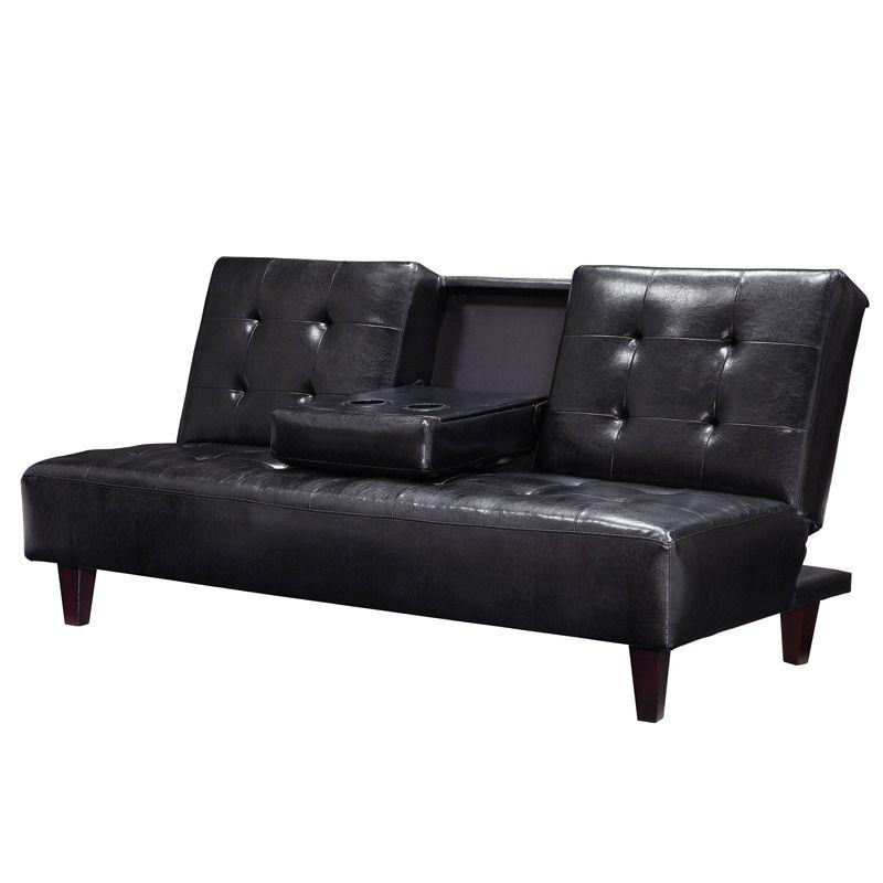 Bruno Black Sofa Futon Weekends Only Furniture And Mattress