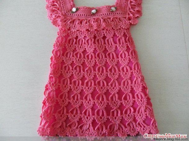 Super Receita de Crochê Infantil: Vestido de crochê infantil com gráfico  AO98