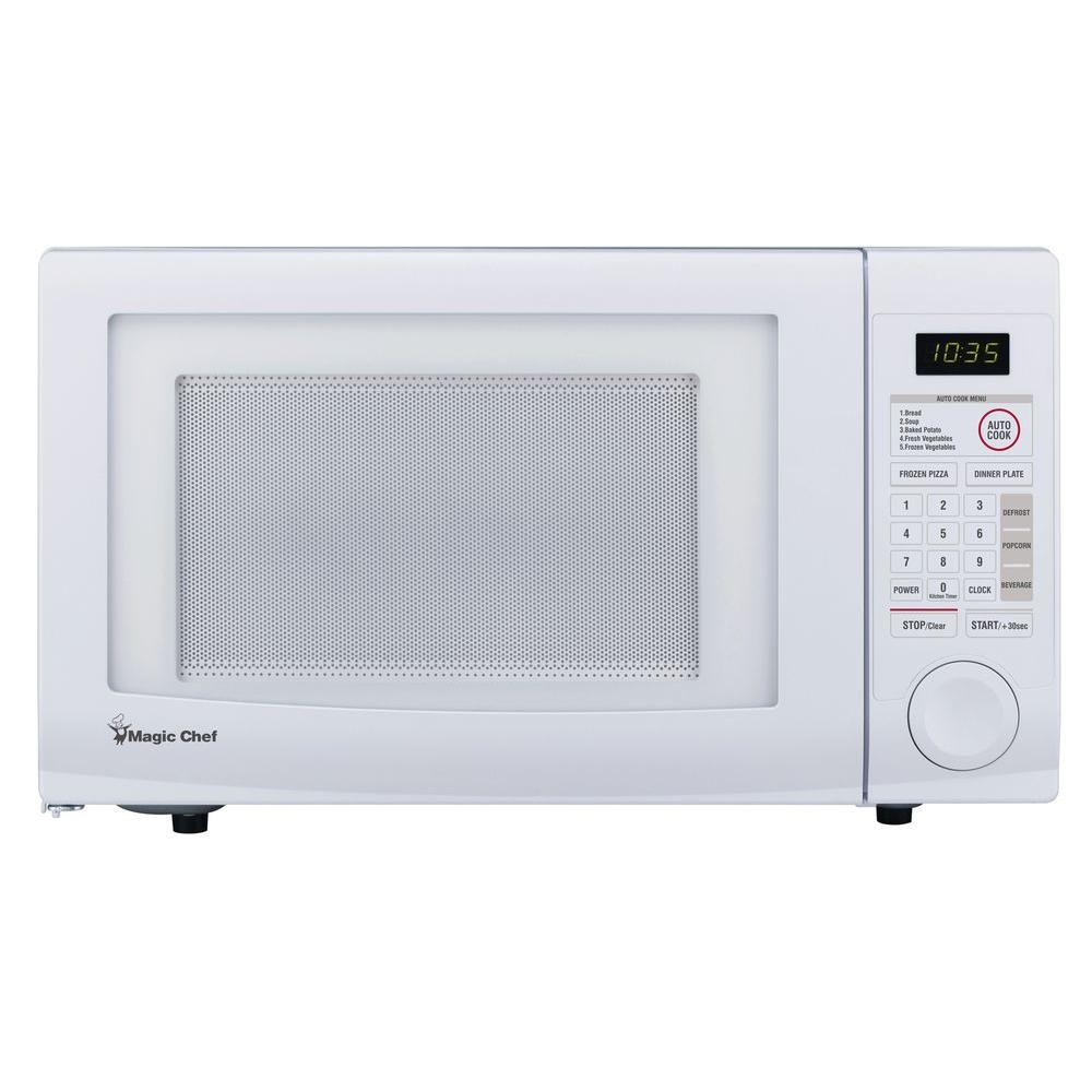 Magic Chef 1 1 Cu Ft Countertop Microwave In White Hmd1110w