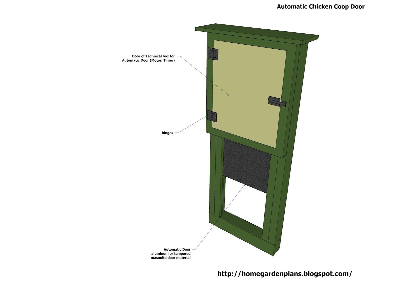 Automatic chicken coop door chicken coop plans