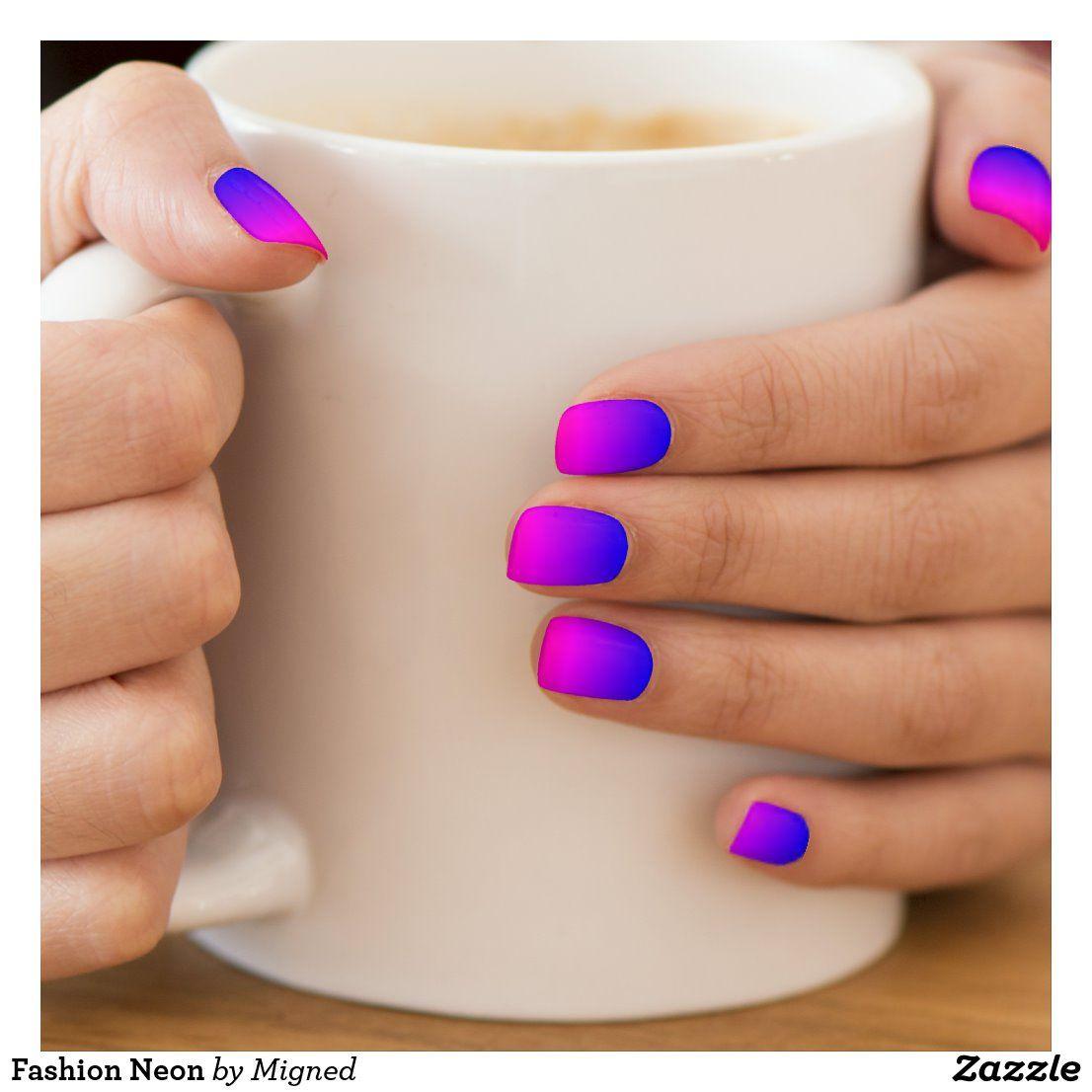 Fashion Neon Minx Nail Art | Zazzle.com