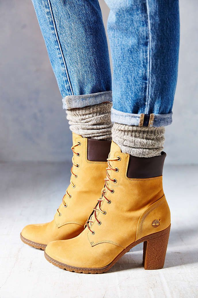 competitive price 220e6 accf3 Timberland Glancy Wheat Heeled Boot - Urban Outfitters