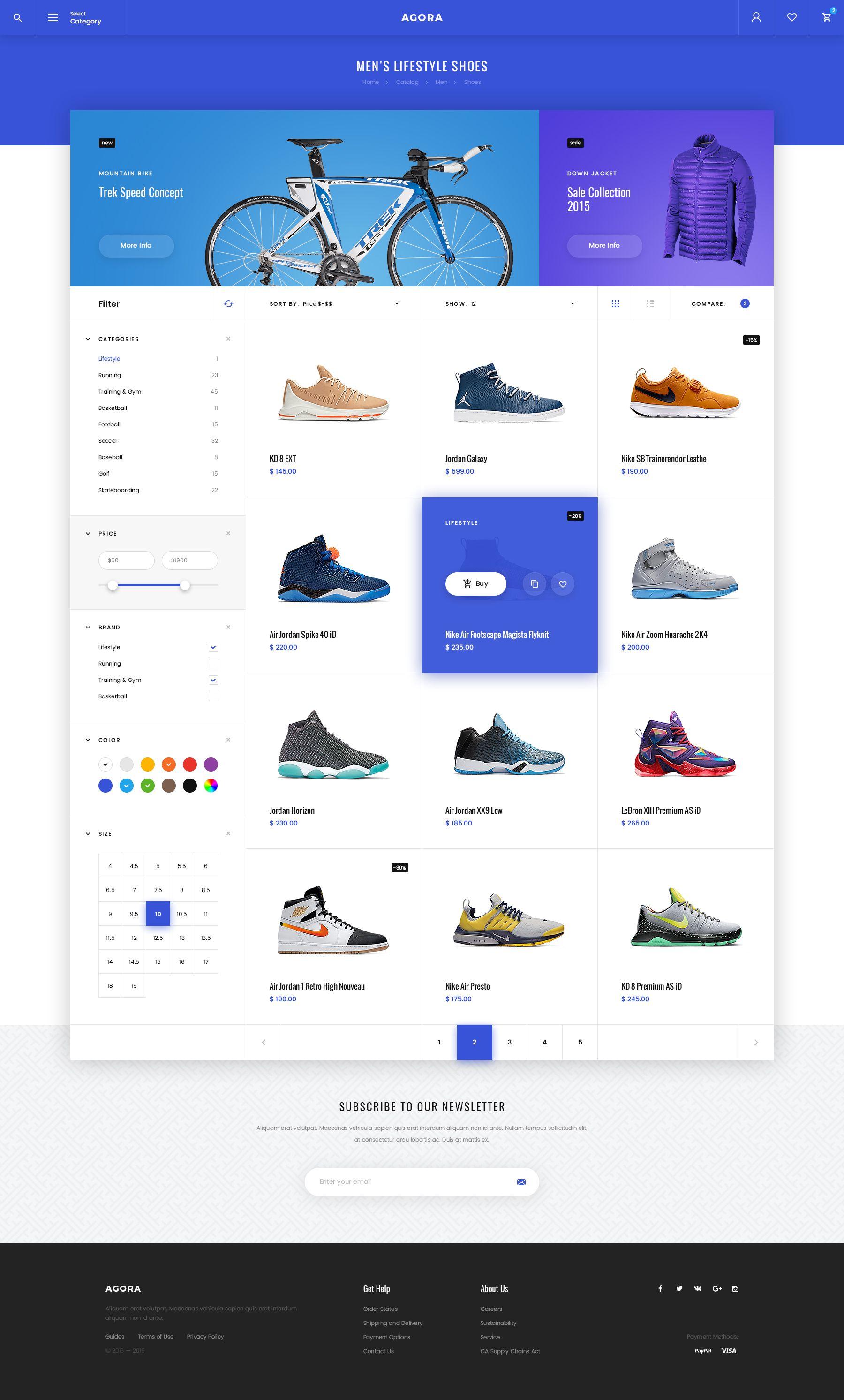 Agora – eCommerce PSD Template | Webseite und Sammeln
