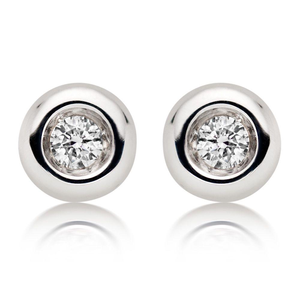 White Gold Earrings Studs Ct Diamond Stud Beaverbrooks The