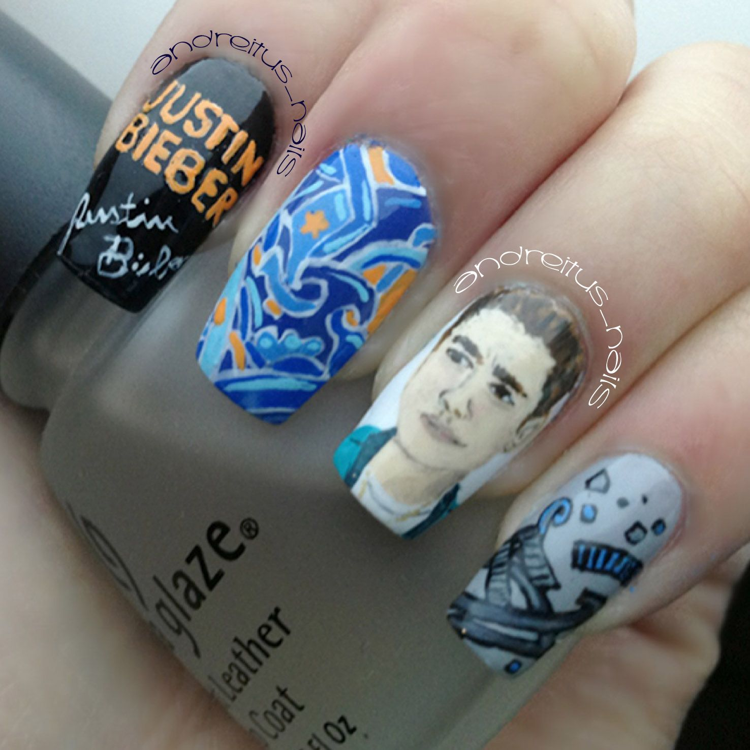 Justin Bieber Nails. Nailart   Nails   Pinterest   Justin bieber and ...