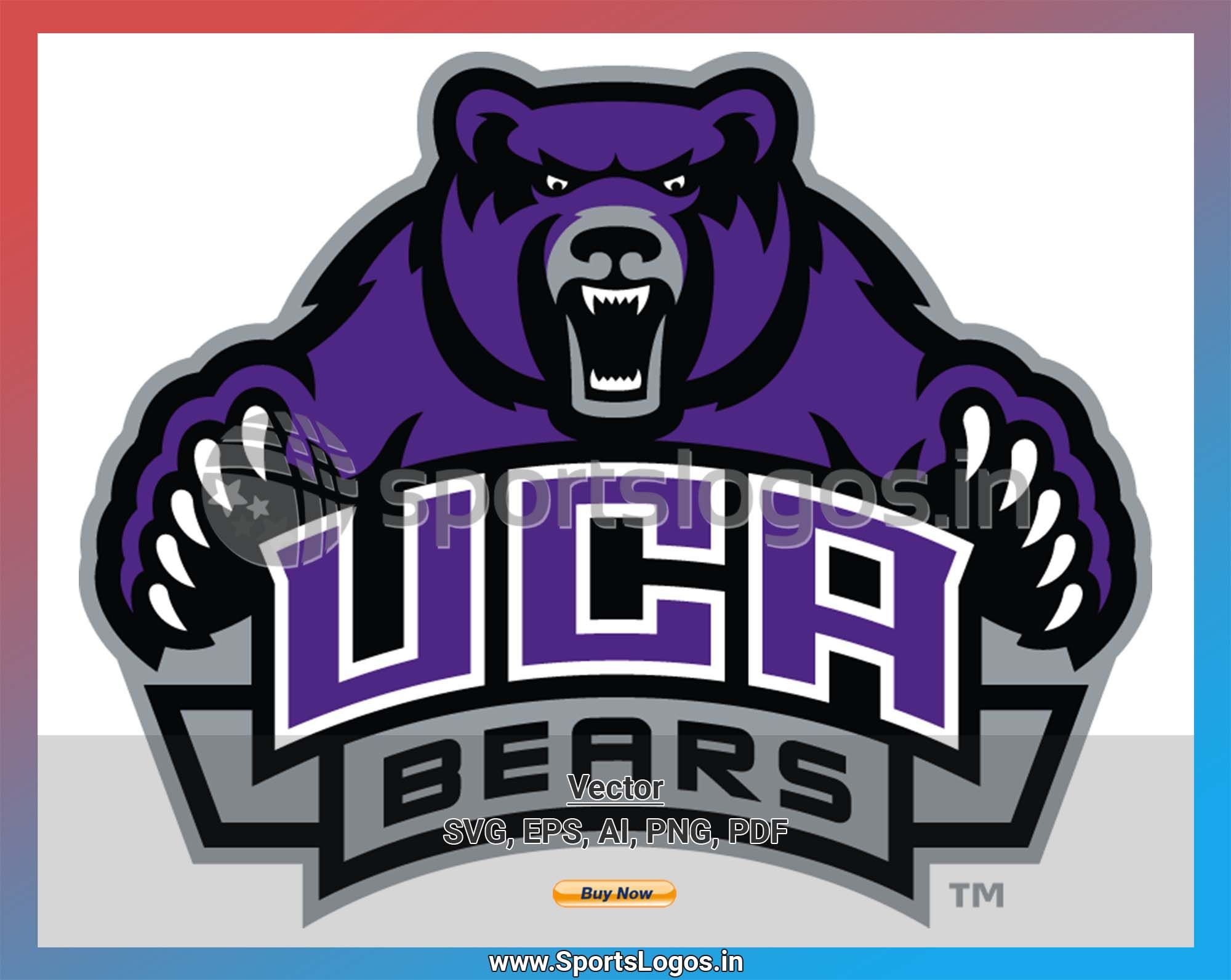 Central Arkansas Bears College Sports Vector SVG Logo in