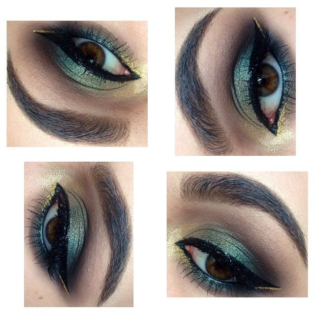 Gold eye | Hazel eye makeup, Makeup for hazel eyes, Makeup