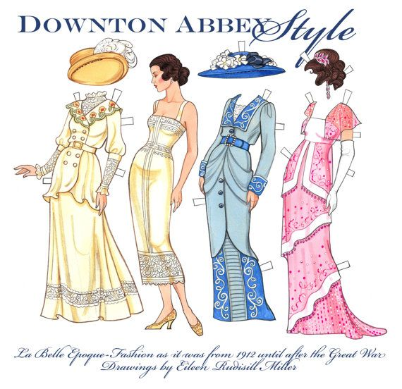 Downton Abbey Style Paper Doll Downton abbey, Dolls and Etsy