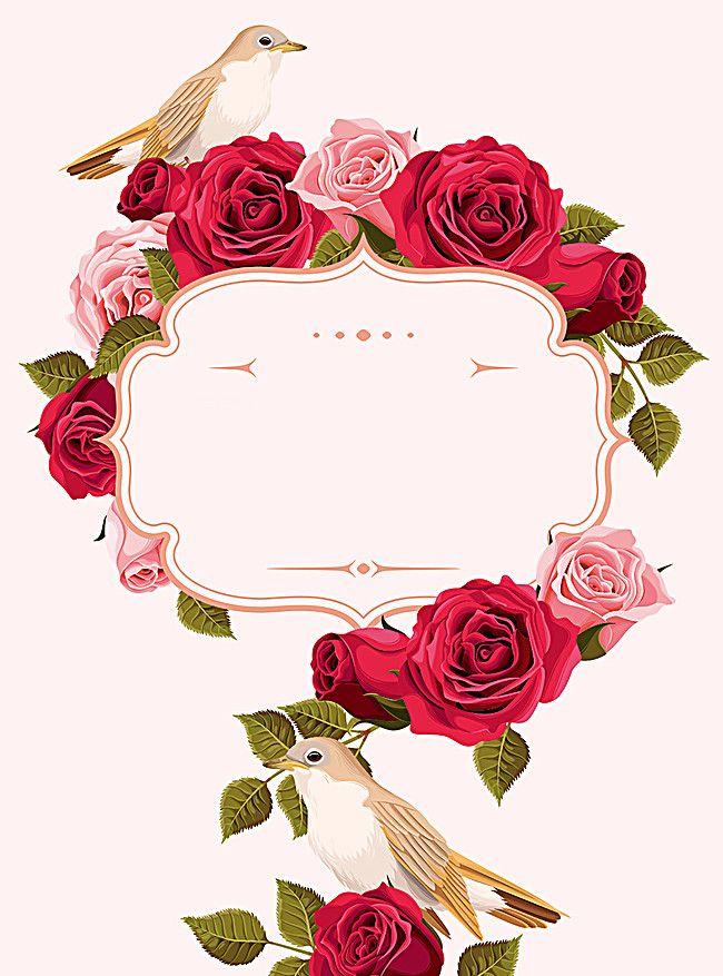 Dream Wedding Invitations Pattern Flowers Backgrou