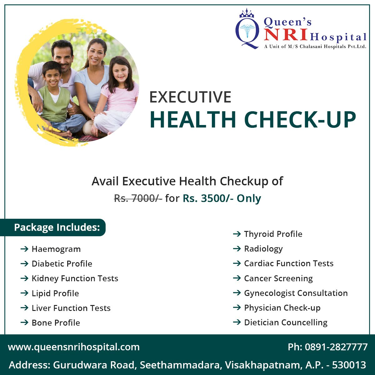Executive Health Checkup Package Avail For Rs 3 500 For Appointments Dial 0891 2827777 Or Live Chat With Us At Ww Health Check Best Hospitals Checkup