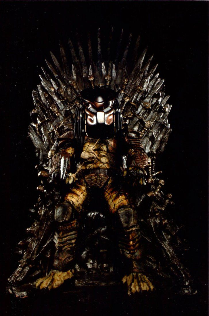 Hunter On The Iron Throne By Pedrotpredator On Deviantart Iron Throne Throne Iron