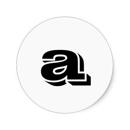 Lower case letter a small round stickers by janz