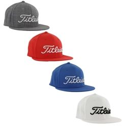 Titleist Mens Fitted Flat Bill Hat Sporty Flat Bill Design With Fitted Back 5e7def47edd