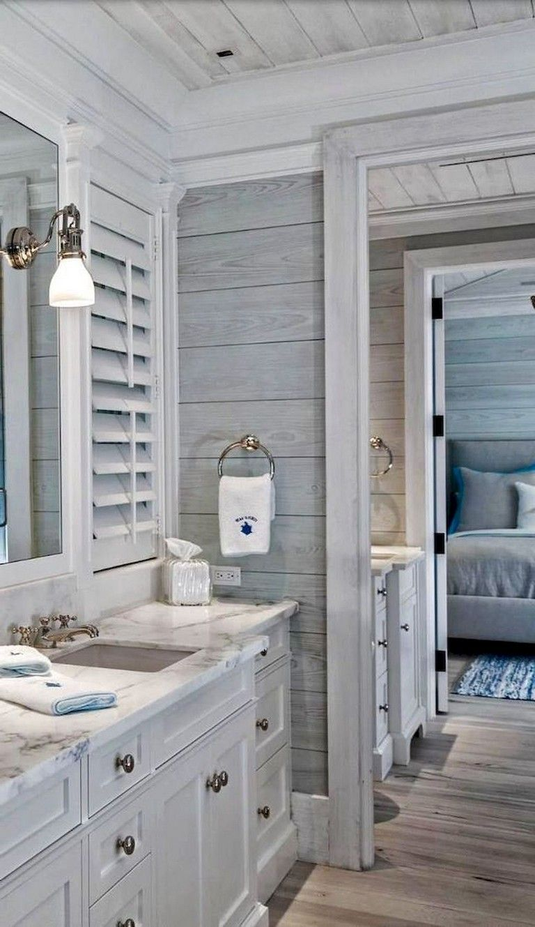 59 Gorgeous Coastal Beach Bathroom Decoration Ideas In 2020