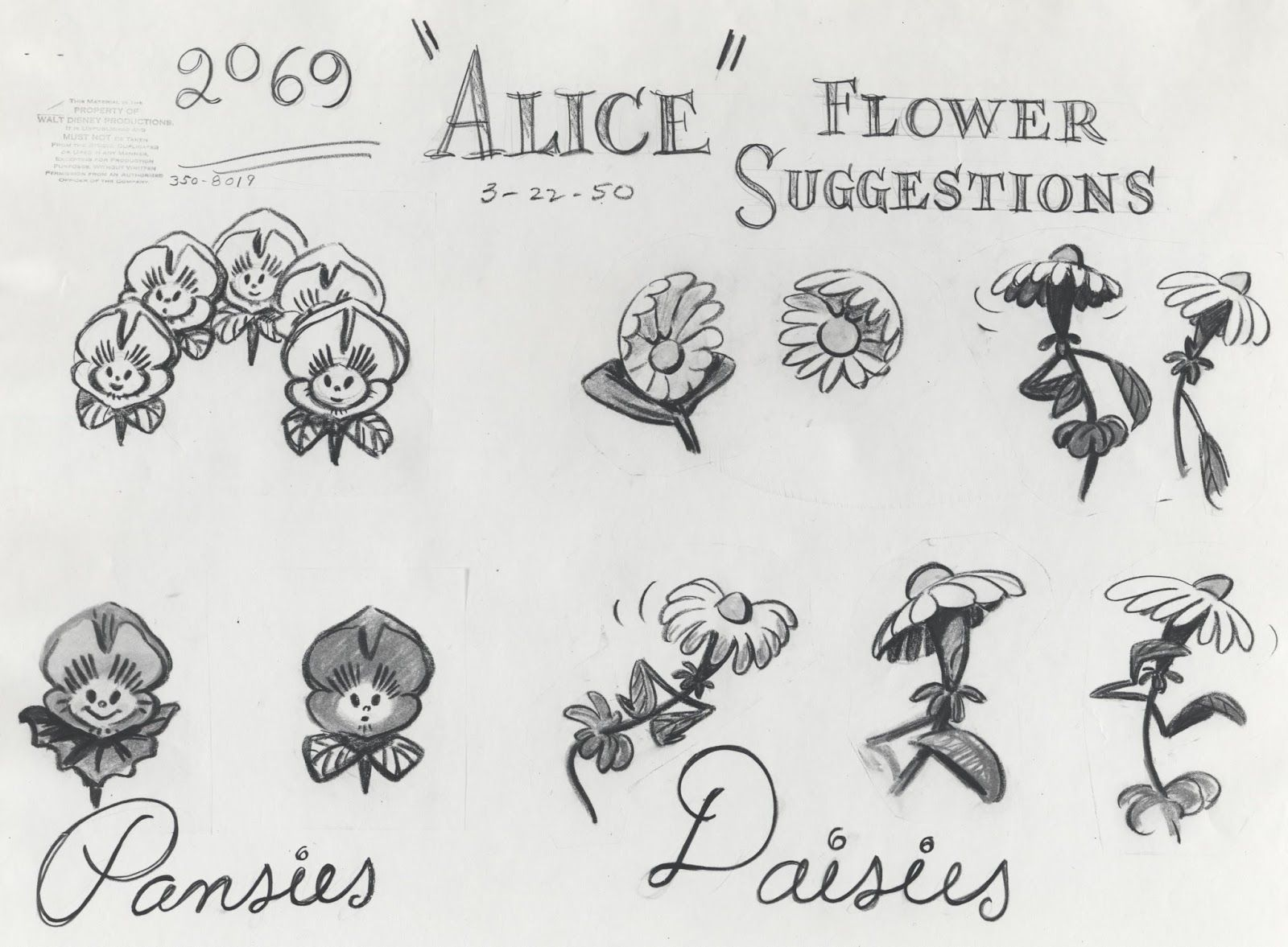 The Flowers In Disney 39 S Alice In Wonderland Have Attitude Issues Friendly At Firs Alice And Wonderland Tattoos Alice In Wonderland Drawings Disney Tattoos