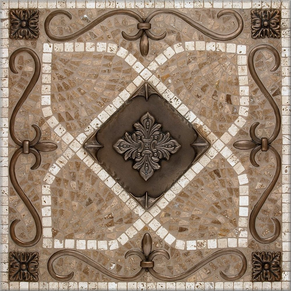 Foyer Medallion Designs : Foyer floor medallion mosaic pebble images renaissance