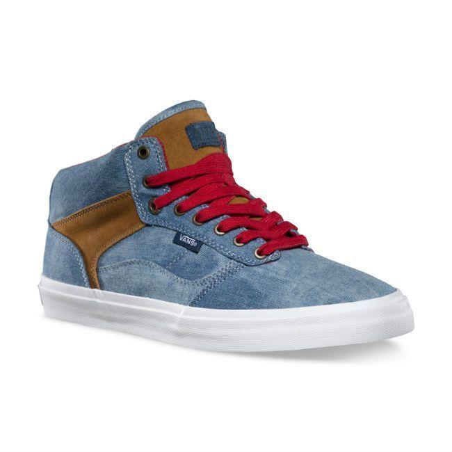 364df7d796163 VANS Bedford (Tye Dye Denim) Blue/Brown OTW Skate Shoes MEN'S 6.5 WOMEN'S 8  #shoes #mens #womens #skate #brown #bedford #denim #blue #vans