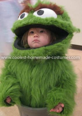 Coolest Oscar the Grouch Child Costume 8  My two-year-old daughter decided  to be Oscar the Grouch for Halloween 2011. The costume includes the head  (like a ... 8b357b90fbe