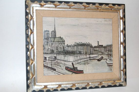 French Artist BERNARD BUFFET Framed Print Of Notre Dame In