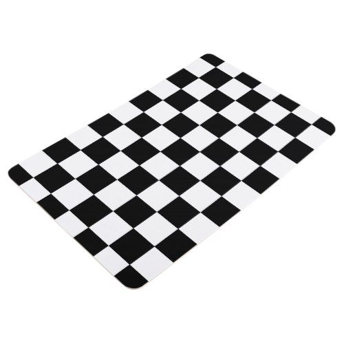 Black And White Checkered Checkerboard Pattern Floor Mat Floor Patterns Checkerboard Pattern Checkered Floors