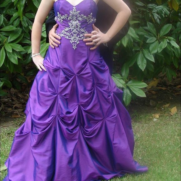 David\'s Bridal purple prom dress | Prom and Customer support