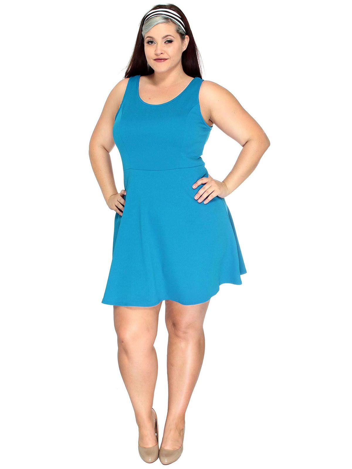 Nice Plus Size Women Dress Casual Party Evening Sleeveless Short ...