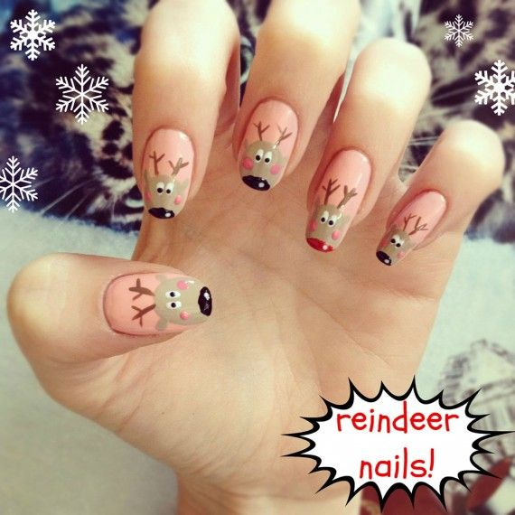 Uñas De Navidad 50 Excelentes Ideas Decoración De Uñas Manicura Y Nail Art Part 3 Xmas Nails Holiday Nails Christmas Nails