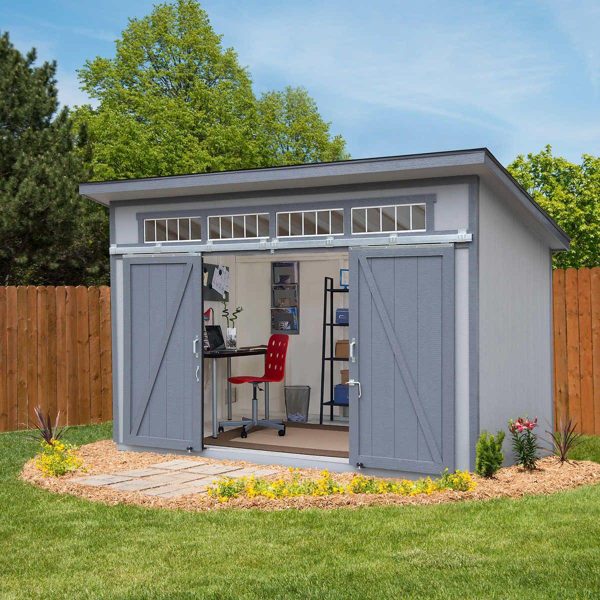 Yardline Santa Clara 12 X 8 Wood Storage Shed In 2020 Shed Design Diy Shed Plans Shed Building Plans