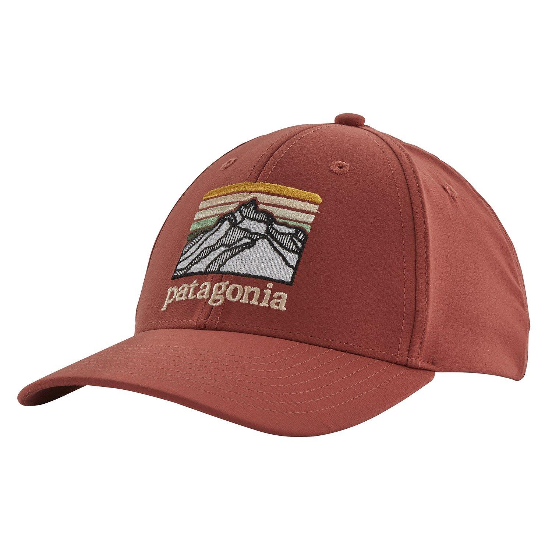 Patagonia Line Logo Ridge Channel Watcher Cap 2020 In Red Patagonia Hat Line Logo Snap Logo