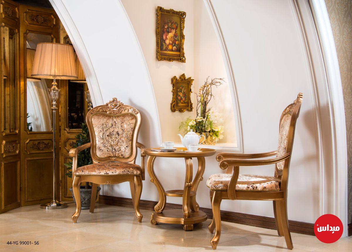 نقشات الخشب البارزة وانحناءات اللون الذهبي يجعل هذه الزاوية هي الاجمل على الاطلاق ميداس مدخل أثاث السعودية الكويت Furniture Home Decor Home