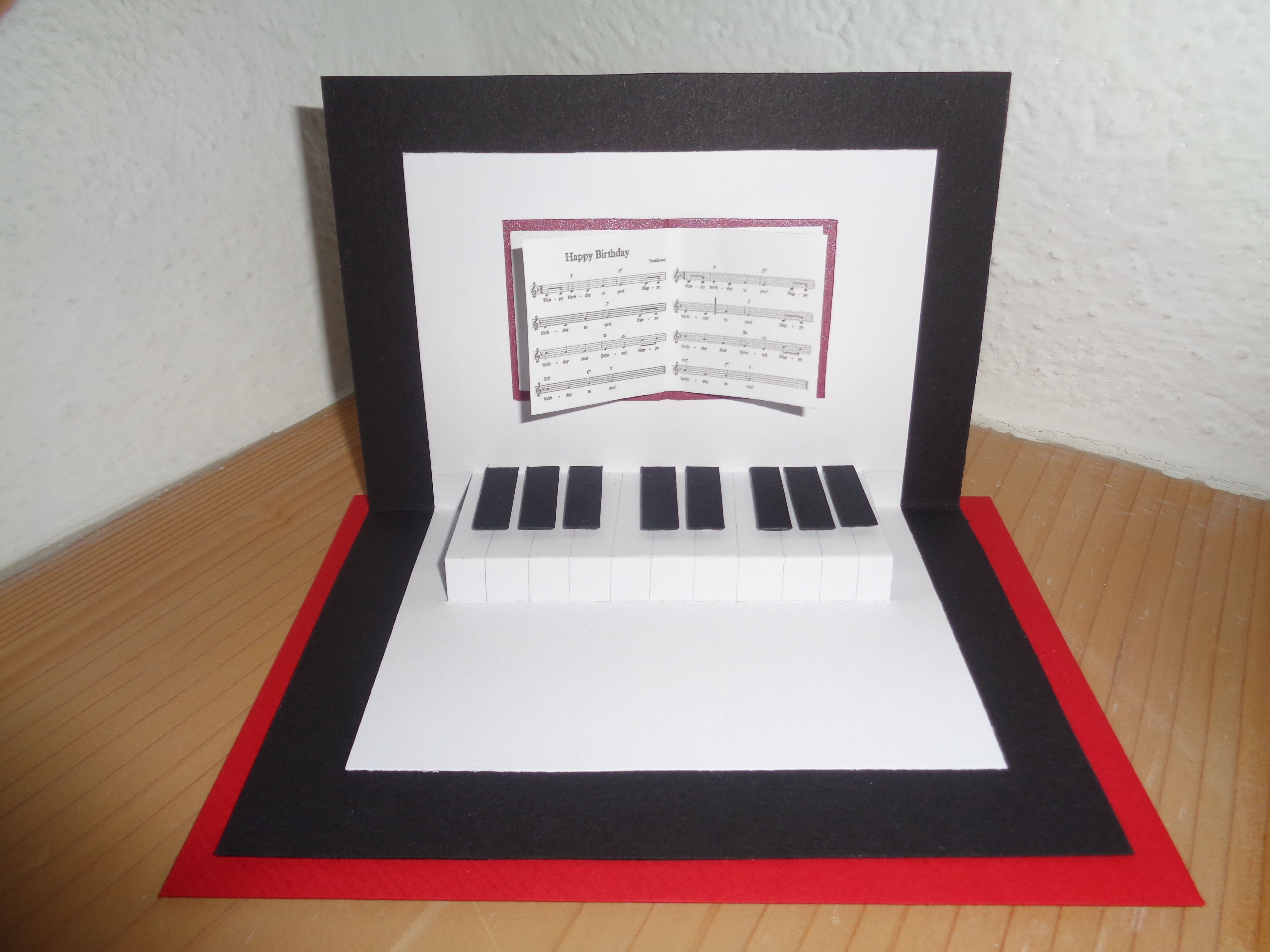 Music Lovers Piano Greeting Card With Personalised Sheet For Birthday Anniversay Valentines Day
