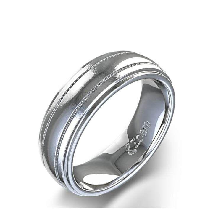 Mujer Hombre 14k Oro Blanco Mate Anillo De Compromiso 7mm Ancho Anillo Special Summer Sale Other Fine Rings