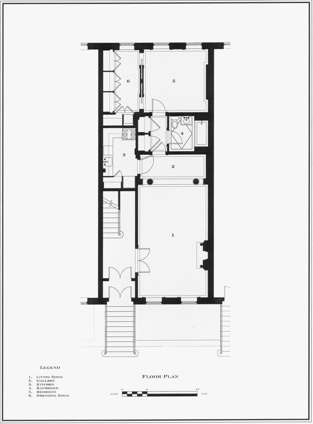 g p schafer architect pllc town house floor plan plan design city living  [ 1032 x 1397 Pixel ]