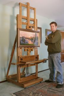 how to build an h frame easel