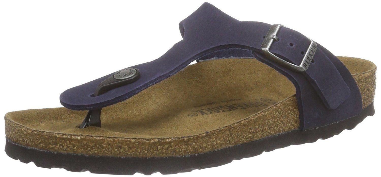 6d3b7368bc76 Birkenstock-Mens Gizeh-microfiber-Navy-Sandals