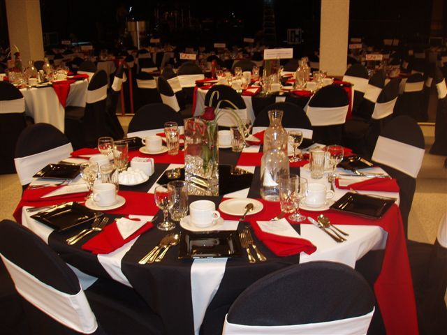 Red White And Black Wedding Centerpieces