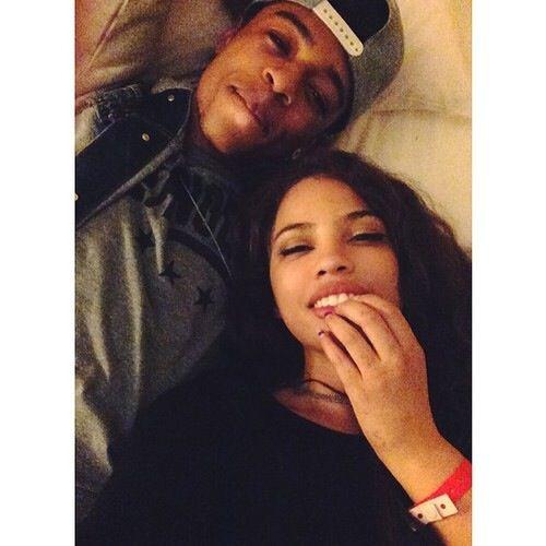 Hispanic and black couple XOXO