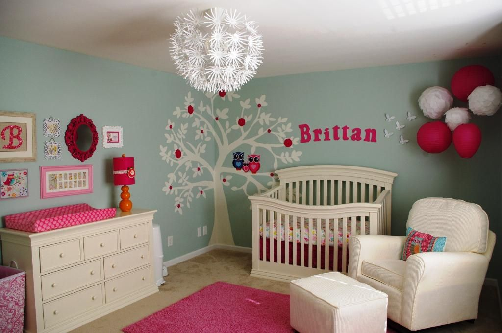 Image Of Baby Girl Nursery Themes Colors Ideas