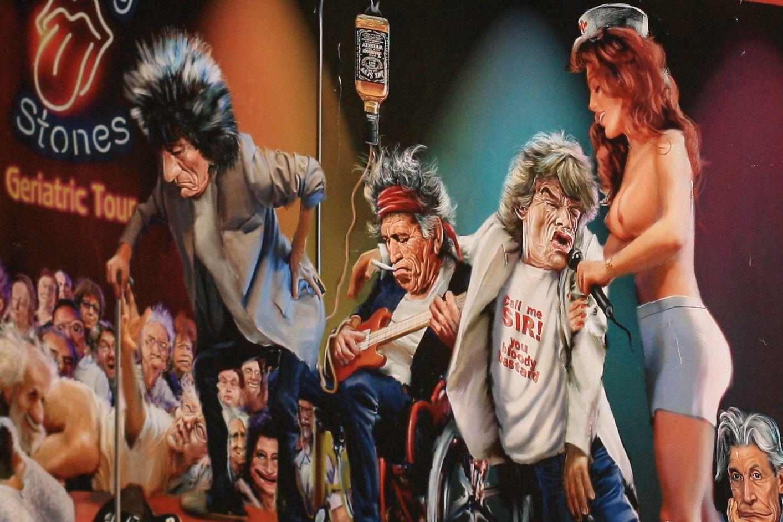 Rolling Stones Geriatric Tour Poster