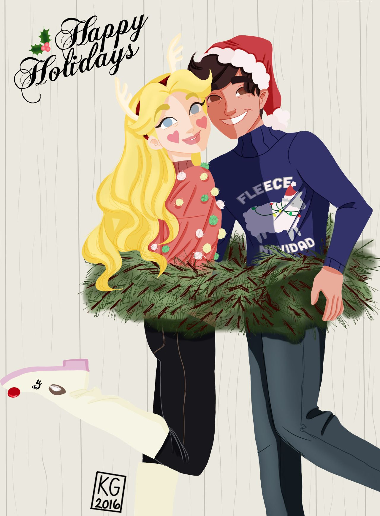 but like what if Mr. & Mrs. Diaz sent out cute christmas cards to ...