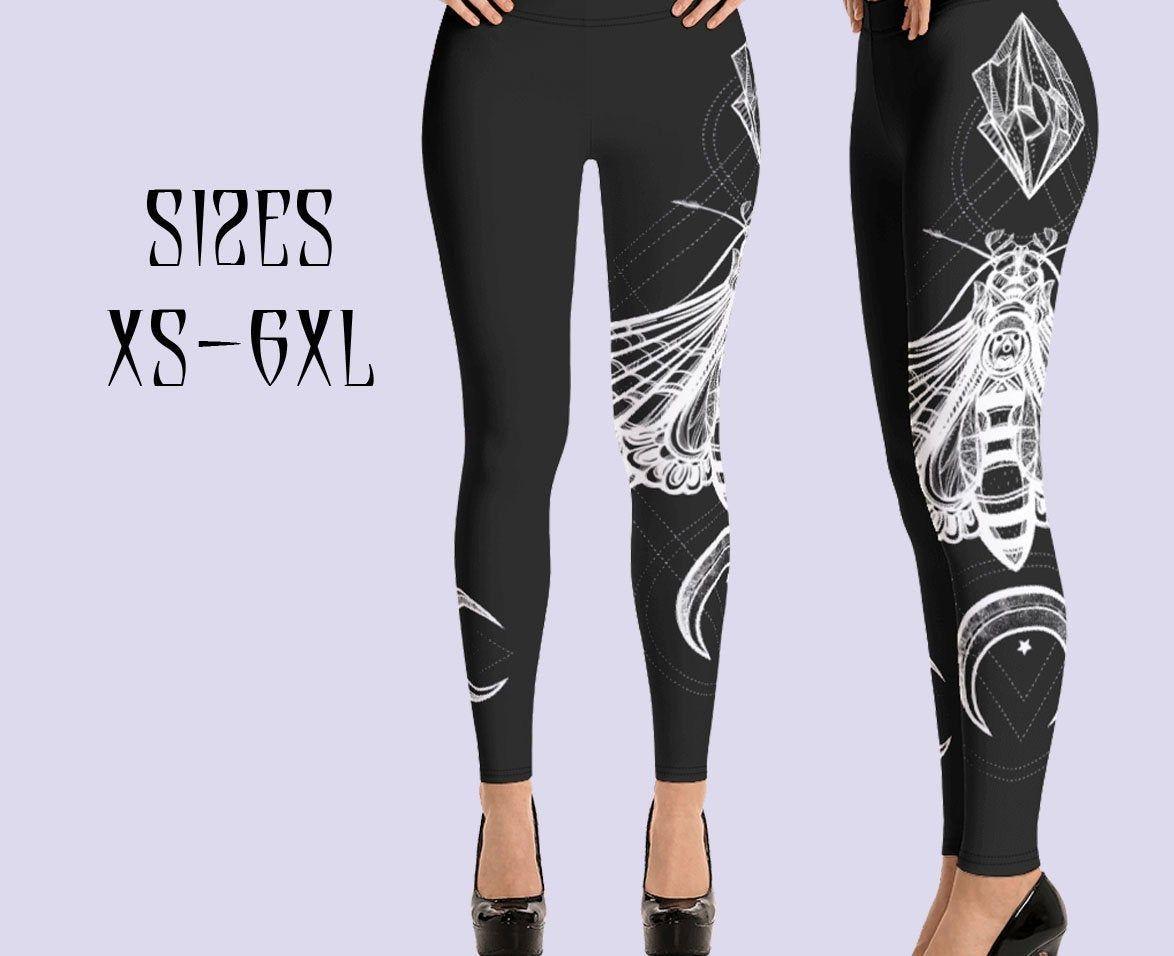 Nu Goth Clothing Gothic Bottoms Malleus Maleficarum Women Leggings