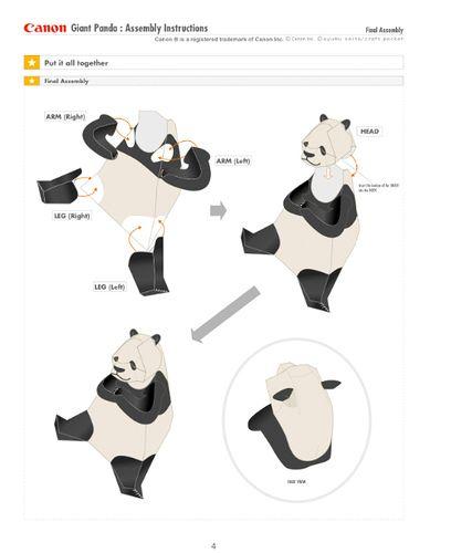 panda paper toy instructions sample.jpg by rachel best, via Flickr