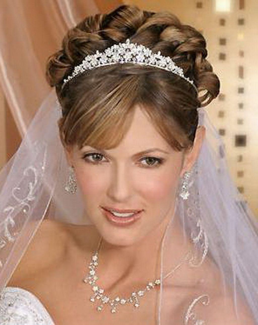 tiara wedding hairstyles ideas for brides , #brides