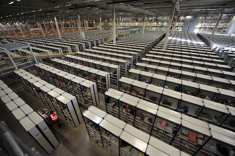 What It Look Like Inside The Amazon Warehouse Business Storage